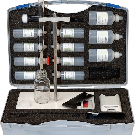 Lab case titrimetric hardness / Cl- /SO32-/ p and m alkalinity