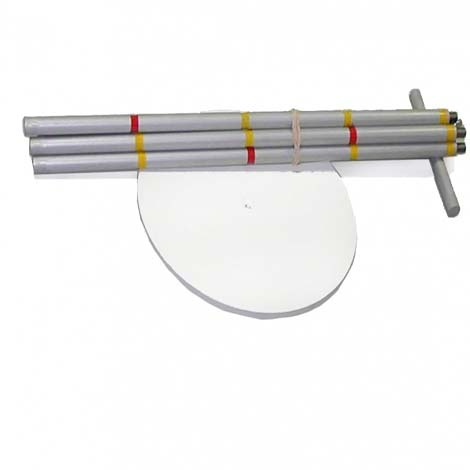 Secchi disc white diameter 200 mm + rod 2m